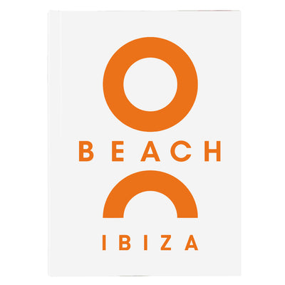 O Beach Orange Logo A5 Hard Cover Notebook-Notebook-O Beach Ibiza