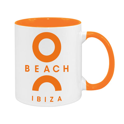 O Beach Orange Logo Two Colour Mug-Mug-O Beach Ibiza