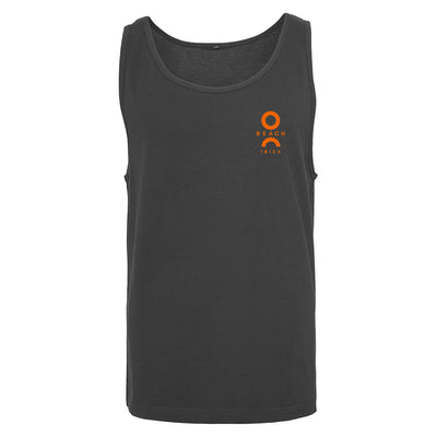 O Beach Orange Logo Men's Jersey Vest-Vest-O Beach Ibiza