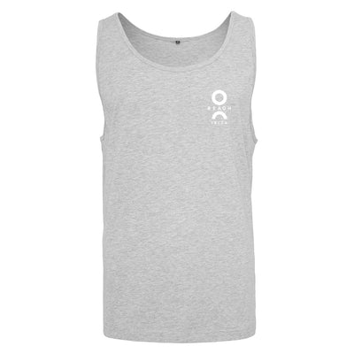 O Beach White Logo Men's Jersey Vest-Vest-O Beach Ibiza