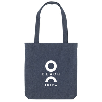 O Beach Logo White Woven Tote Bag-O Beach Ibiza Store