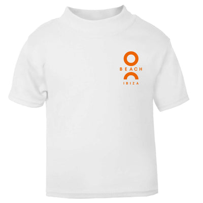 O Beach Orange Flock Logo Baby T-Shirt-T Shirt-O Beach Ibiza