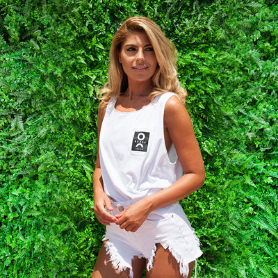 O Beach White Unisex Pocket Vest-O Beach Ibiza Store