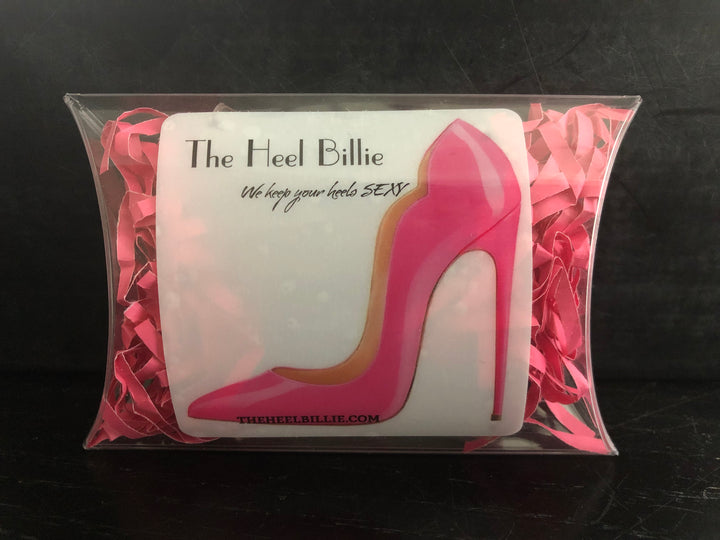 "CUSTOM ORDER COMBO PACK Clear Vinyl Heel Protectors (One Pair of Each Size 1/2"" & 3/8"") 4"" length"