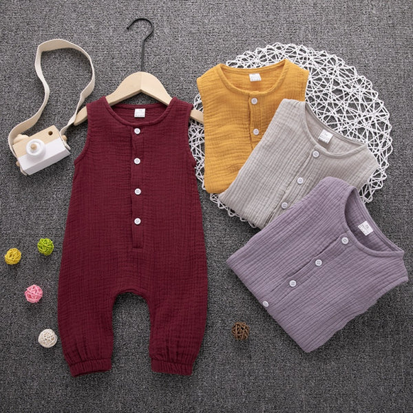 Infant Casual Sleeveless Jumpsuit Newborn Clothes