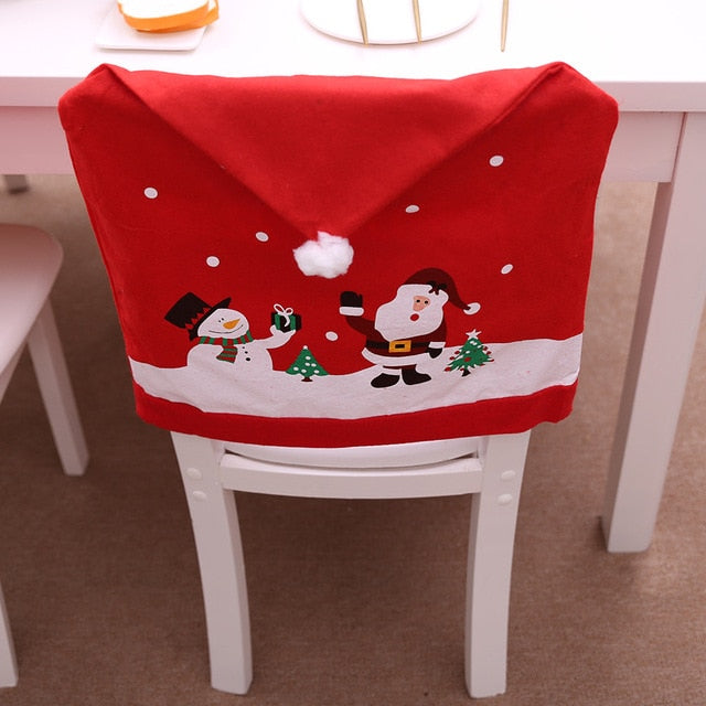 Santa Claus Kitchen Table Chair Cover