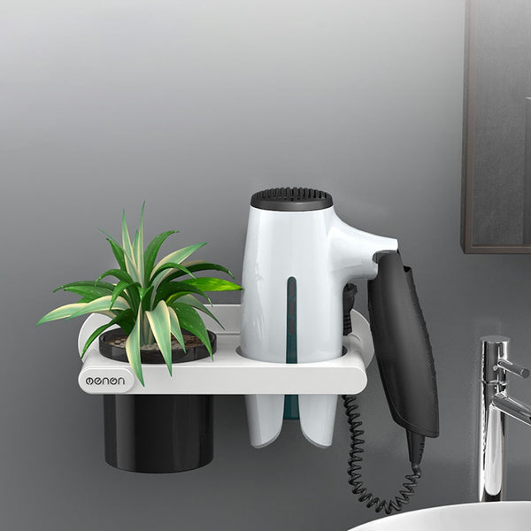 Wall Mounted  Hair Dryer  Rack  Organizer
