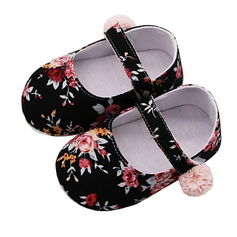 Baby Girl Breathable Floral Print Anti-Slip Shoes