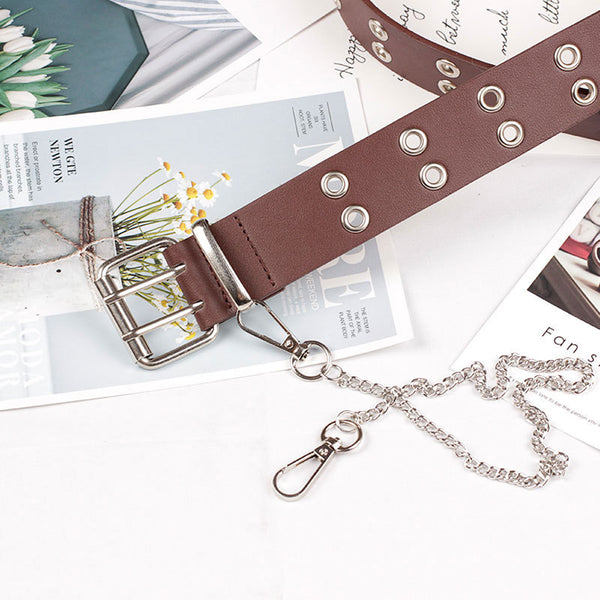 Fashion Punk Metal Eyelet Waist Belt