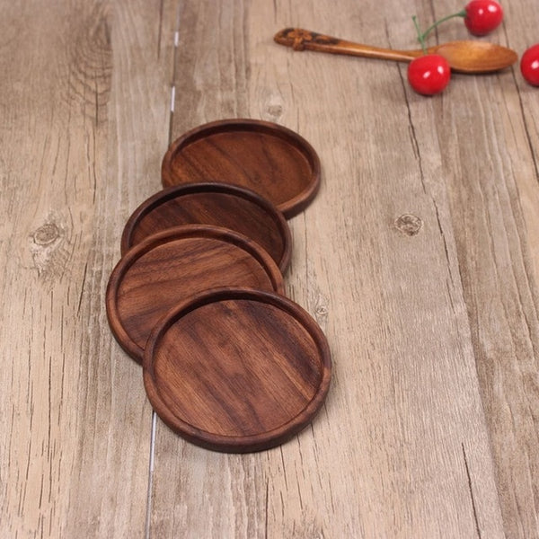 Wooden Coasters Non-slip Heat Resistant Table Decor