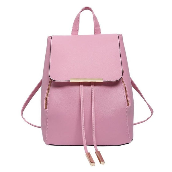 Japanese Style PU Leather Backpack