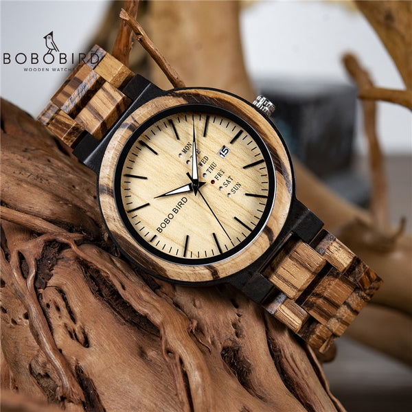 BOBO BIRD Men's Wood Wrist Watch