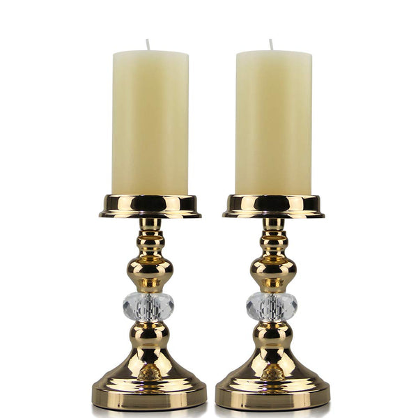 Gold Metal Candle Holder Decor