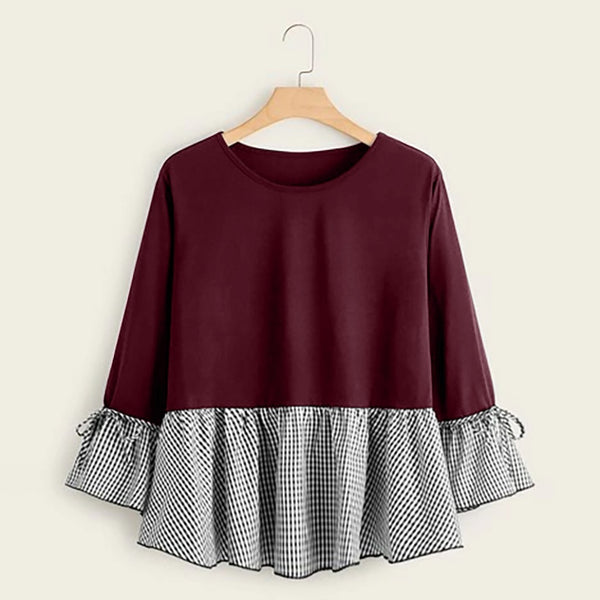 Women's Plus Size Ruffle Blouse