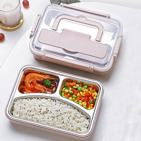 3 Compartment Portable Insulated  Lunch Box