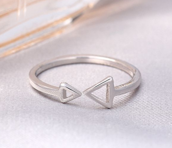 Double Trouble Midi Ring - Silver