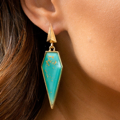 Alexis Earrings - Turquoise