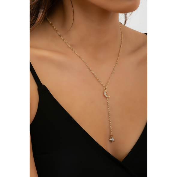 Alissa Moon Necklace - Gold