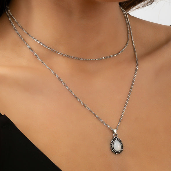 Cassie Necklace - Silver