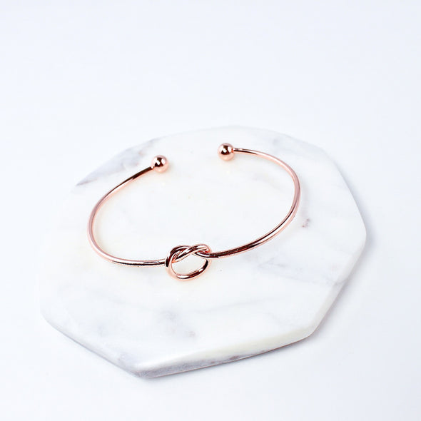 Forget Me Knot Bracelet - Rose Gold
