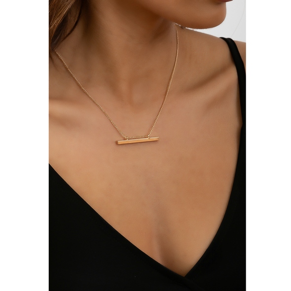 Gold Bar Necklace - Gold