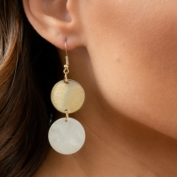 Heather Earrings - Ivory