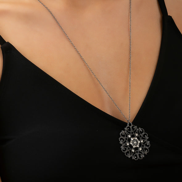 Inner Circle Necklace - Gunmetal