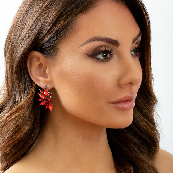 Kendra Earrings - Red