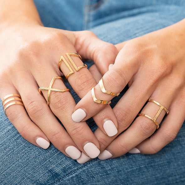 Ladies Night 5pc Ring Set