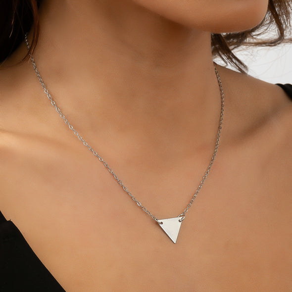 Love Triangle Necklace - Silver