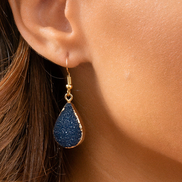Nikita Teardrop Crystal Earrings