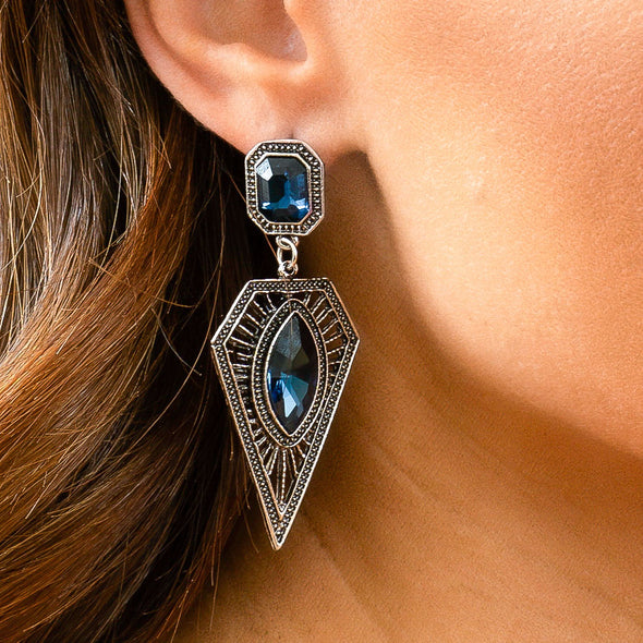 Royal Slay Earrings - Sapphire
