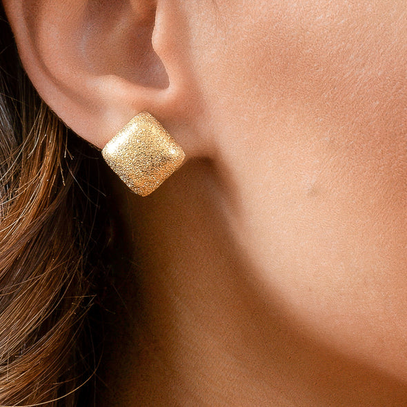 Squared Up Studs - Gold