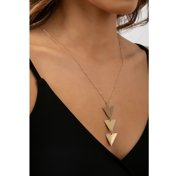 Triple Threat Necklace - Gold