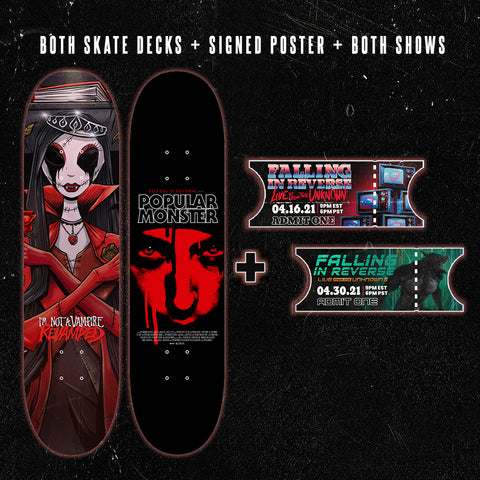 Skateboard Decks + Signed Poster + Ticket Bundle (Pre-Sale)