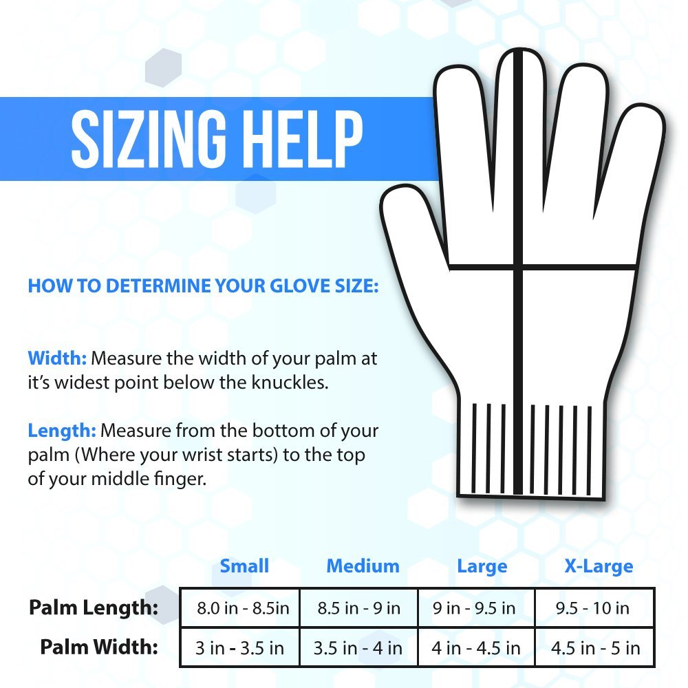 Cut Resistant Glove Sizing Chart