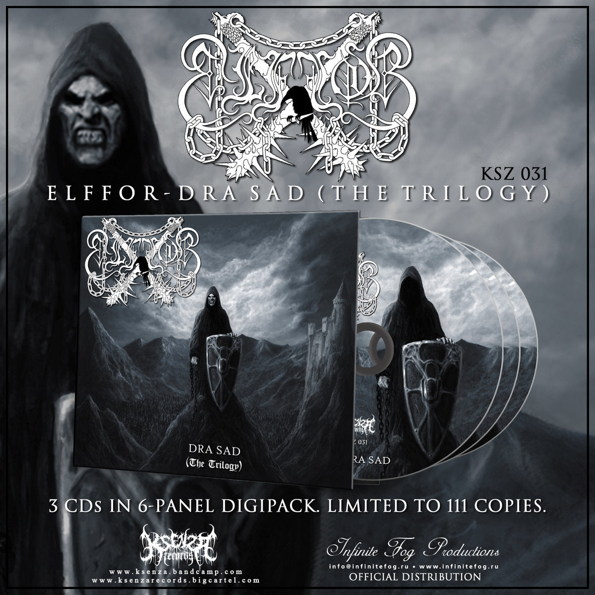 Elffor - Dra Sad (The Trilogy) 3xCD digipak