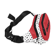 Dalmatian Red Split Waist Bag