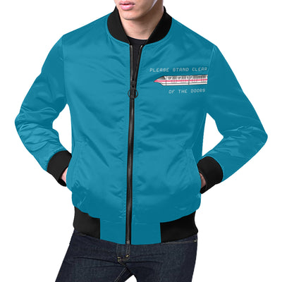 Monorail Mens Blue Plus Size Bomber Jacket