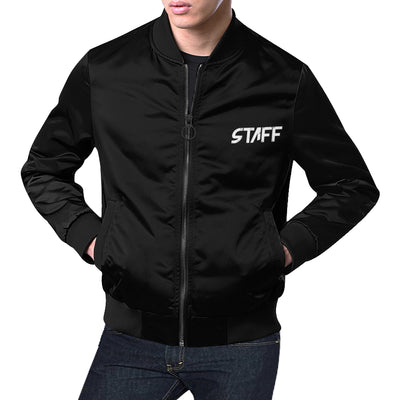 Powerline Mens Black Bomber Jacket