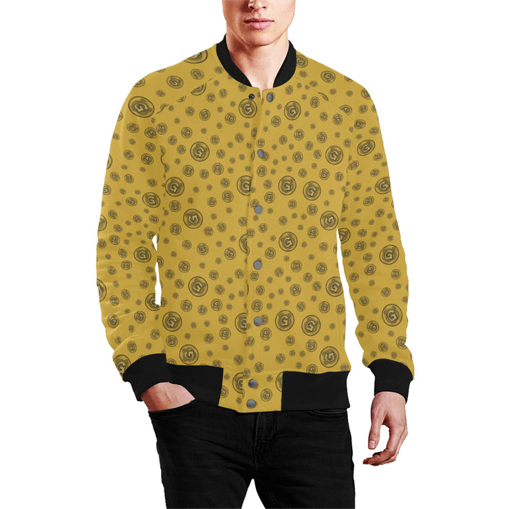 Gummi Mens Gold Baseball Jacket