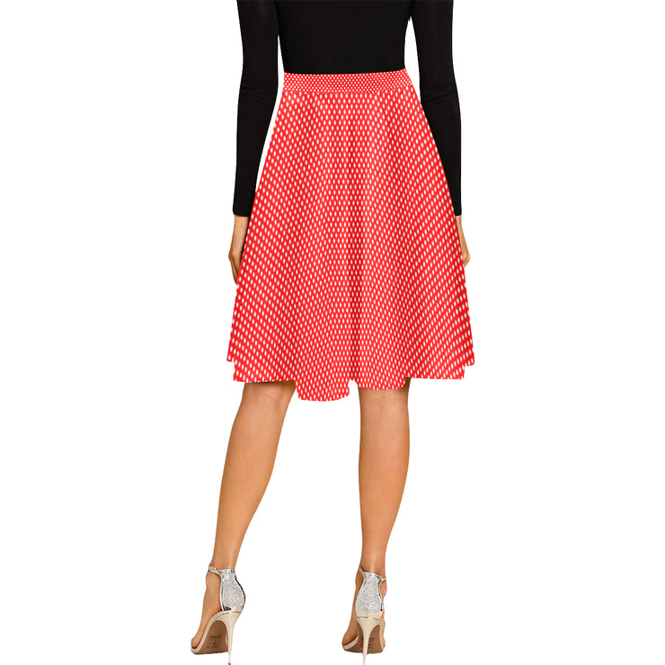 Polka Dot Pleated Midi Skirt