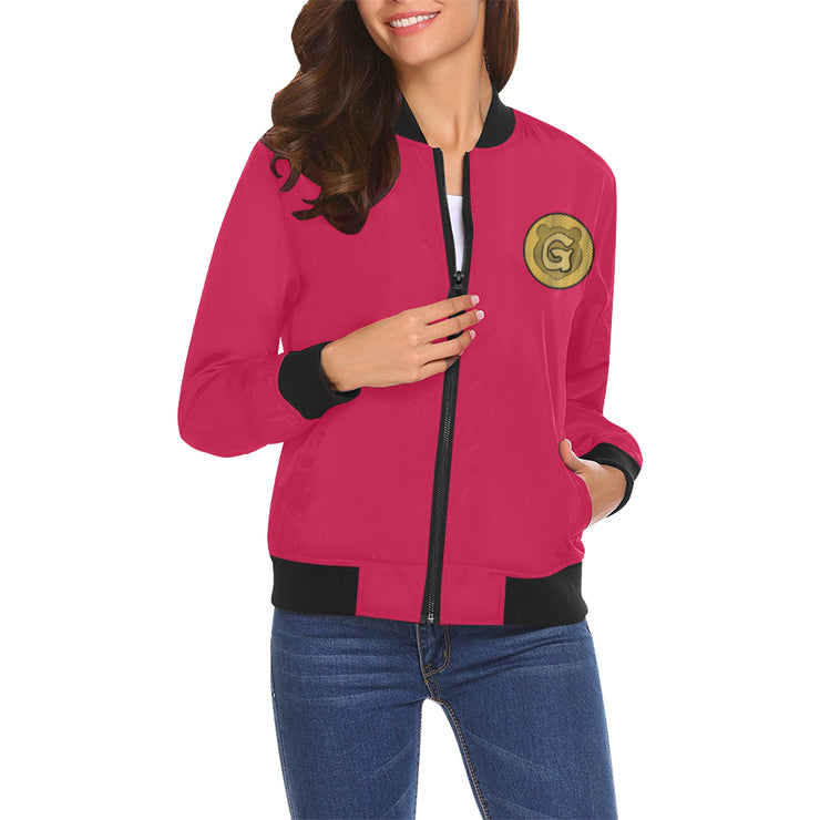 Gummi Womens Red Classic Bomber Jacket