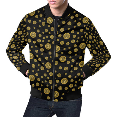 Gummi Mens Black Plus Size Bomber Jacket