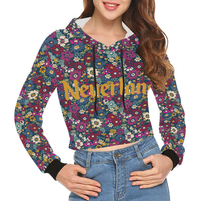 Neverland Floral Cropped Hoodie