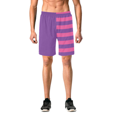 Cheshire Stripe Split Swim Trunks