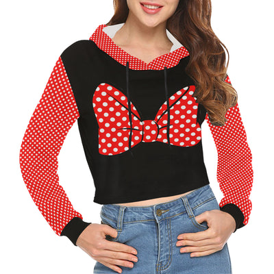 Bow Cropped Hoodie