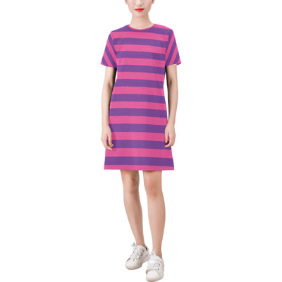 Cheshire Stripe T-Shirt Dress