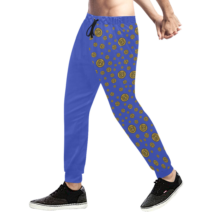 Gummi Mens Blue Plus Size Pants