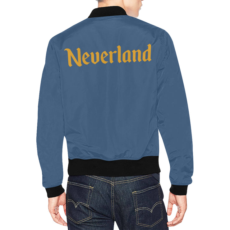 Neverland Mens Blue Plus Size Bomber Jacket